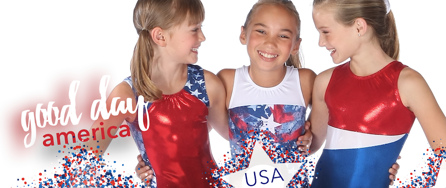 Red White and Blue Leotards
