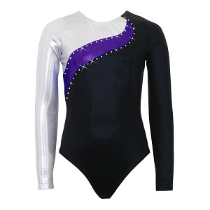 Elite Silver/Purple/Black Mystique Long Sleeve