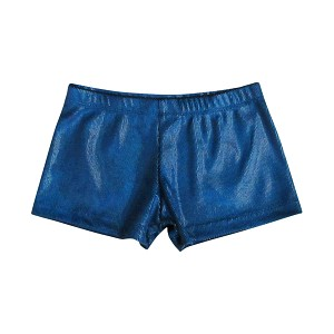 Royal Hologram Velvet Shorts