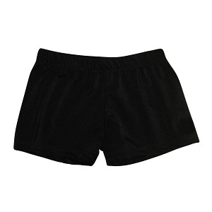 Black Nylon  Supplex Micro Mini Shorts