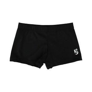 Black Matte Nylon Shorts