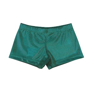 Emerald Hologram Velvet Shorts