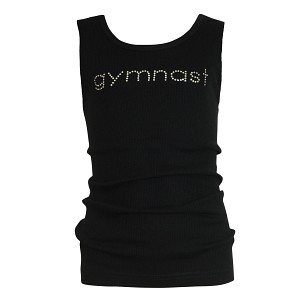 Black GYMNAST Rhinestone Tank Top