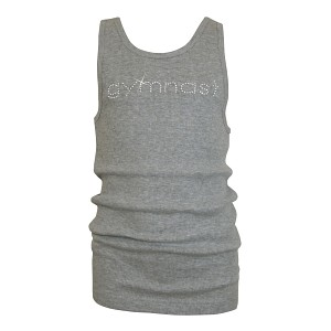 Grey GYMNAST Rhinestone Tank Top