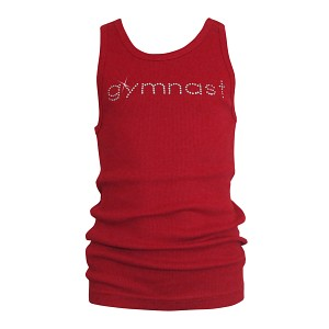 Red GYMNAST Rhinestone Tank Top