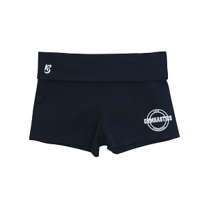 Navy Love Foldover Shorts